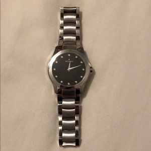 Movado Diamond Black Dial Swiss Quartz Watch